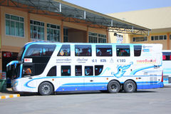 Benze bus no.635-C103 Double deck of  Nakhonchai tour company bus. Stock Photography