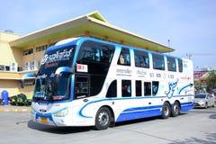 Benze bus no.635-C103 Double deck of  Nakhonchai tour company bus. Stock Photos