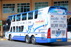 Benze bus no.635-C103 Double deck of  Nakhonchai tour company bus. Royalty Free Stock Image