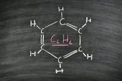 Benzeen, aromatische koolwaterstof Royalty-vrije Stock Foto