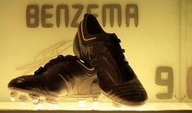 Benzemas Schuhe Lizenzfreie Stockfotos