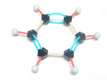 Benzene. Molecule Royalty Free Stock Photos