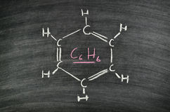 Benzene, aromatic hydrocarbon Royalty Free Stock Photo