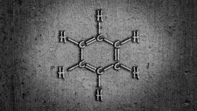 Benzene Chemical Structure. Abstract Illustration Royalty Free Stock Photo