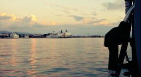 Benzin für Schiffe Stockfotos