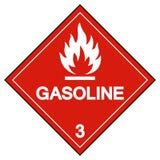 Benzin-Symbol-Zeichen, Vektor-Illustration, Isolat auf weißem Hintergrund, Aufkleber EPS10 lizenzfreie abbildung