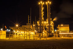 Benzina della raffineria di petrolio Fotografie Stock Libere da Diritti