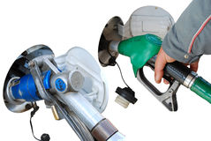 Benzina o GPL risparmio di dispendio o - Fotografia Stock Libera da Diritti