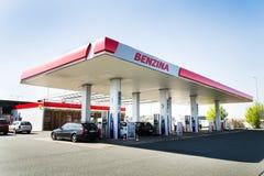 Benzina oil and gas company logo on petrol station. OSICE, CZECH REPUBLIC - APRIL 20 2018: Benzina oil and gas company logo on petrol station on April 20, 2018 royalty free stock image