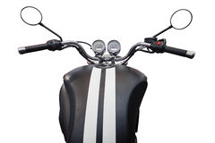 Benzinbehälter und Geschwindigkeitsmesser des Motorrades Stockfotos
