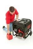 Benzinbetriebener Generator Lizenzfreies Stockfoto