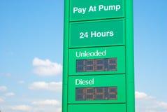 Benzine en Diesel prijzen in Australië royalty-vrije stock foto