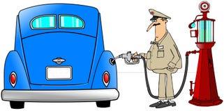 Benzine fillup Royalty-vrije Stock Afbeeldingen