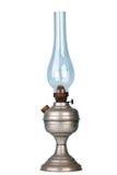 Benzinelamp op wit Stock Foto