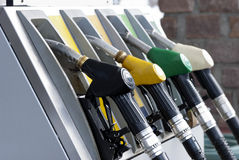 Benzinepomp stock afbeelding