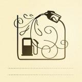 Benzinepomp. Royalty-vrije Stock Foto