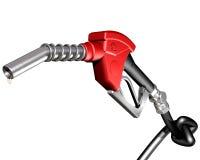 Benzinepomp met geknoopte slang Royalty-vrije Stock Foto