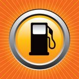 Benzinepomp op sinaasappel starburst Royalty-vrije Stock Afbeelding