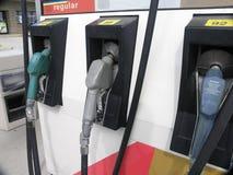 Benzinepompen stock foto's