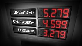Benzinepompprijzen (Digitale Animatie) vector illustratie