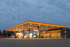 Benzinestation Royalty-vrije Stock Foto's