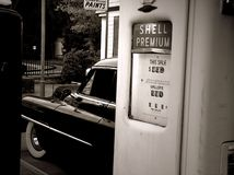 Benzinestation stock fotografie