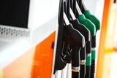 Benzinestation Royalty-vrije Stock Foto