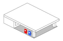 Benzinestation stock illustratie