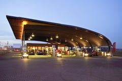 Benzinestation in Nederland Stock Foto's