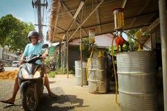 Benzinestation op Koh het eiland van Chang Stock Foto