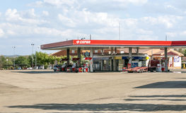 Benzinestation in Spanje Stock Afbeelding