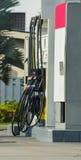 Benzinestation voor diesel en benzine stock fotografie