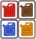 Benzinkanister mit Platz für Text Lizenzfreies Stockbild