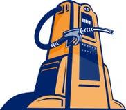 Benzinpumpenstationdüse stock abbildung