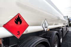 Benzintransporter Lizenzfreie Stockfotos