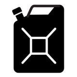 Benzinvektorlogo-Designschablone Benzinkanister von stock abbildung