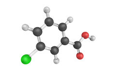 Benzoic acid, a colorless crystalline solid and an important pre Royalty Free Stock Image