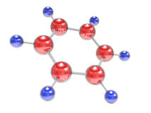 Benzol molecule Royalty Free Stock Photo