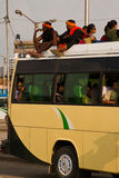 Benzyna niedoboru kryzys w Kathmandu, Nepal Zdjęcie Royalty Free