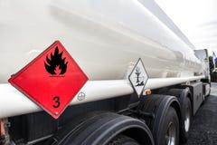 Benzyna transporter Zdjęcia Royalty Free
