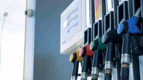 Benzyna zbiornik na staci benzynowej, zamyka up zbiory wideo