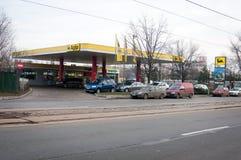 Benzynowa Agip stacja Obraz Royalty Free