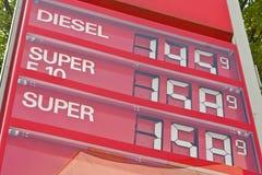 benzynowa benzyny wysokich cen stacja zdjęcie stock