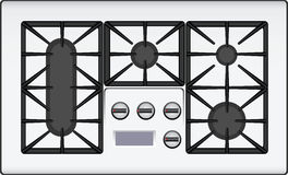 Benzynowa kuchenka royalty ilustracja