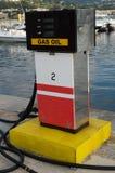 benzynowa łodzi stacja Obrazy Royalty Free