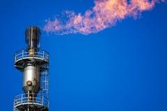 Benzynowa pochodnia z palenie płomieniem zdjęcie stock
