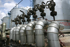 benzynowa produkcja ropy naftowej Russia Zdjęcia Royalty Free