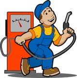 benzynowa stacja ilustracji