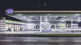 Benzynowa stacja, Amsterdam Holland zdjęcie royalty free