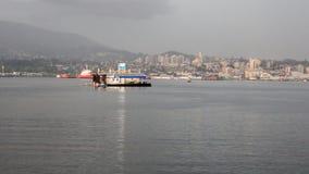Benzynowa stacja na wodzie dla łodzi i jachtów obrazy stock